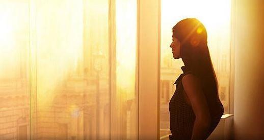 woman skyline